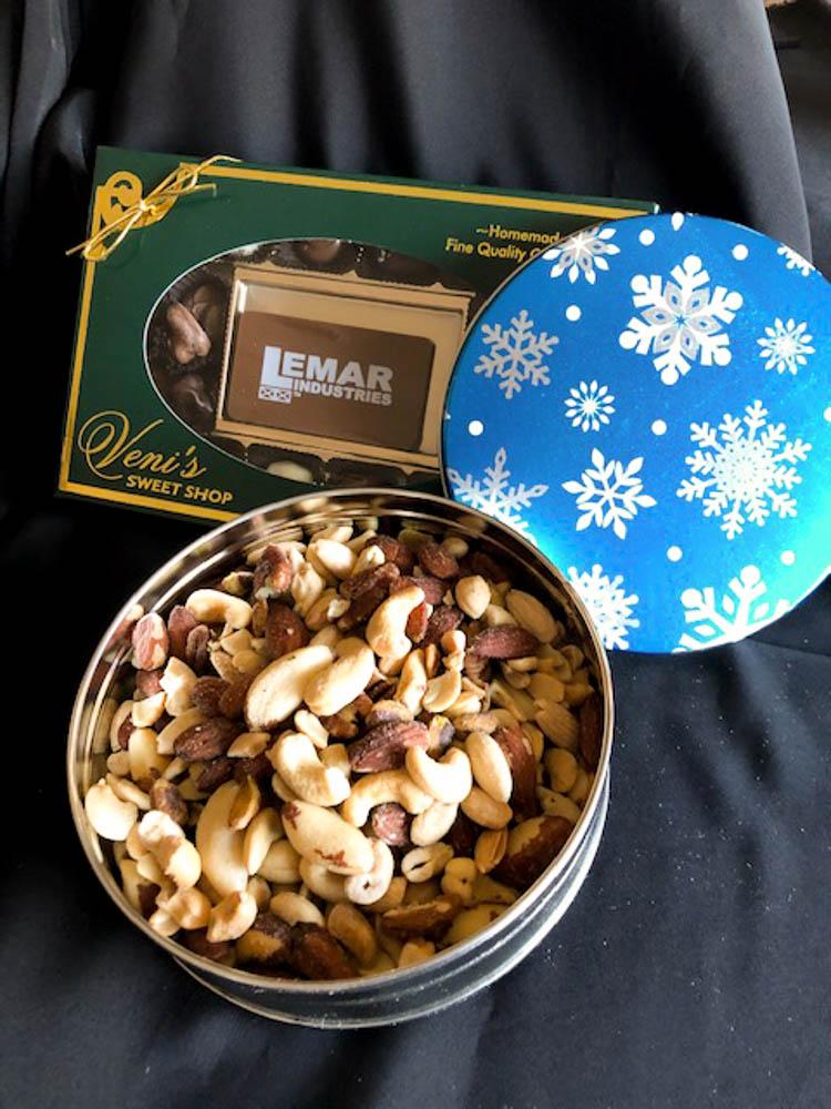 Chocolate And Nuts Christmas Gift Box