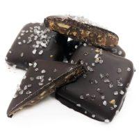 dark chocolate almond butter toffee with sea salt