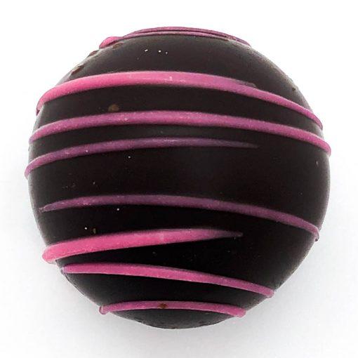 dark chocolate raspberry truffle