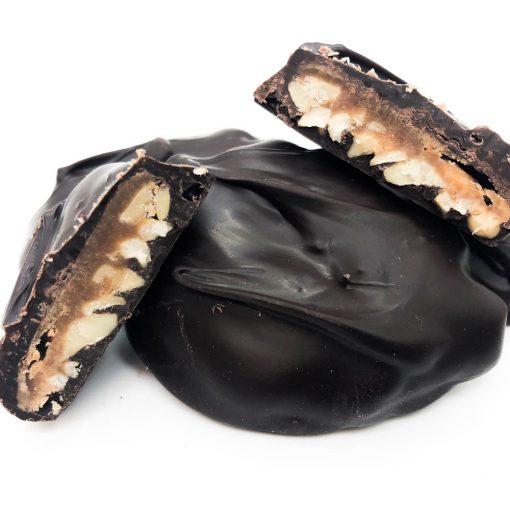 dark chocolate cashew turtle